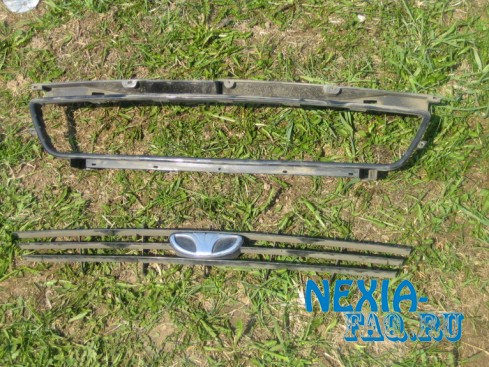 Сетка в решетку радиатора нексии (nexia)