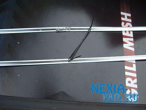 Сетка в бампер нексии (nexia) своими руками