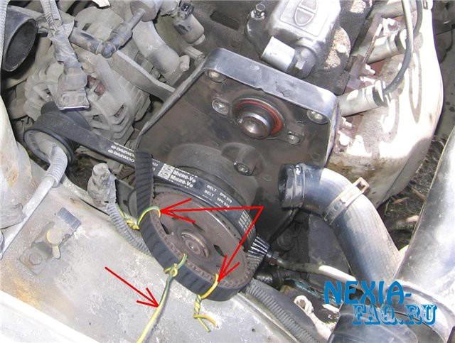Замена термостата на нексии (nexia) с двигателем SOHC