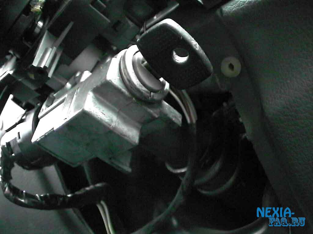 Замена личинки замка зажигания на Daewoo Matiz.