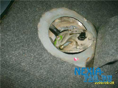Замена поплавка бензобака на нексии