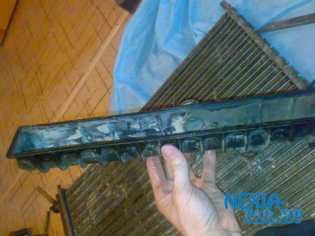 Ремонт радиатора двигателя на нексии (nexia)