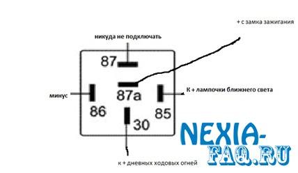 Дневные ходовые огни в фары нексии (nexia)