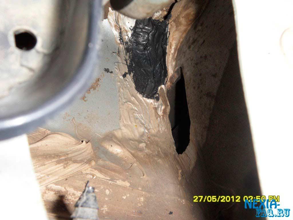 Попадание воды в салон на нексии (nexia)