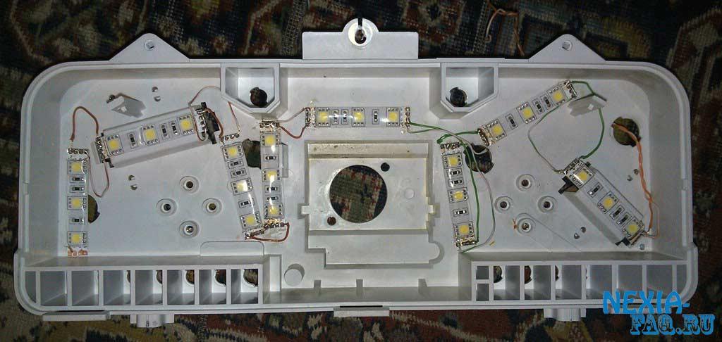 Как сделать светодиодную панель приборов