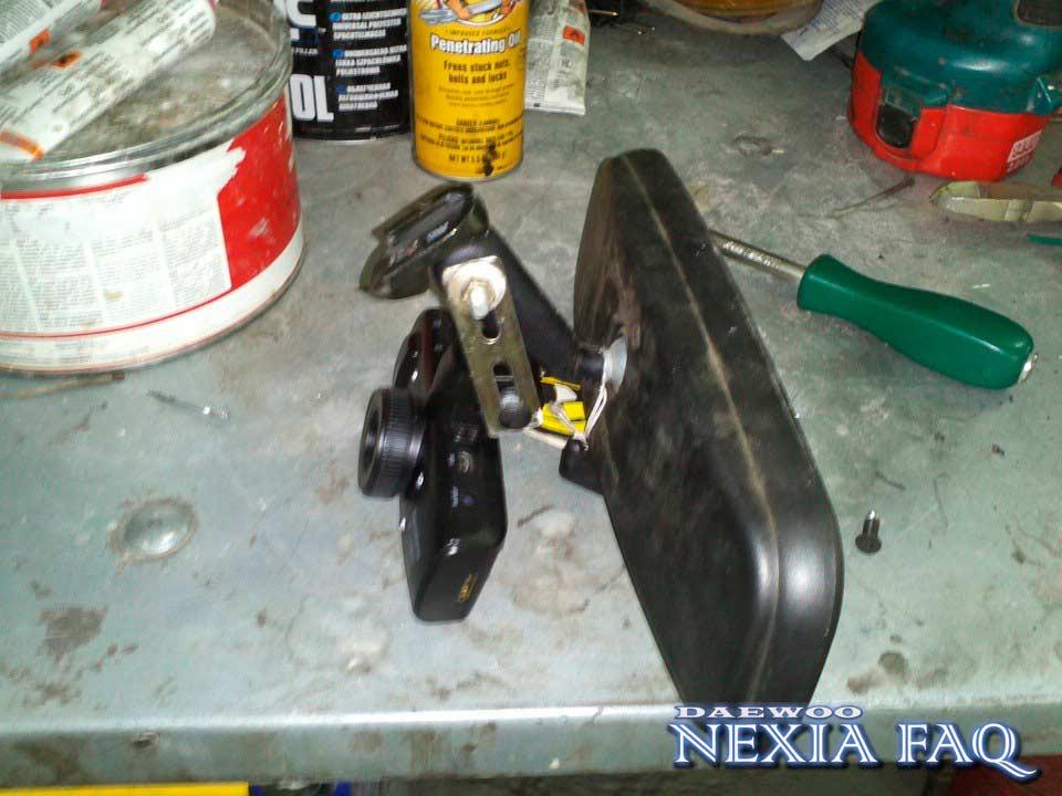 Крепление видеорегистратора к салонному зеркалу на нексии (nexia)