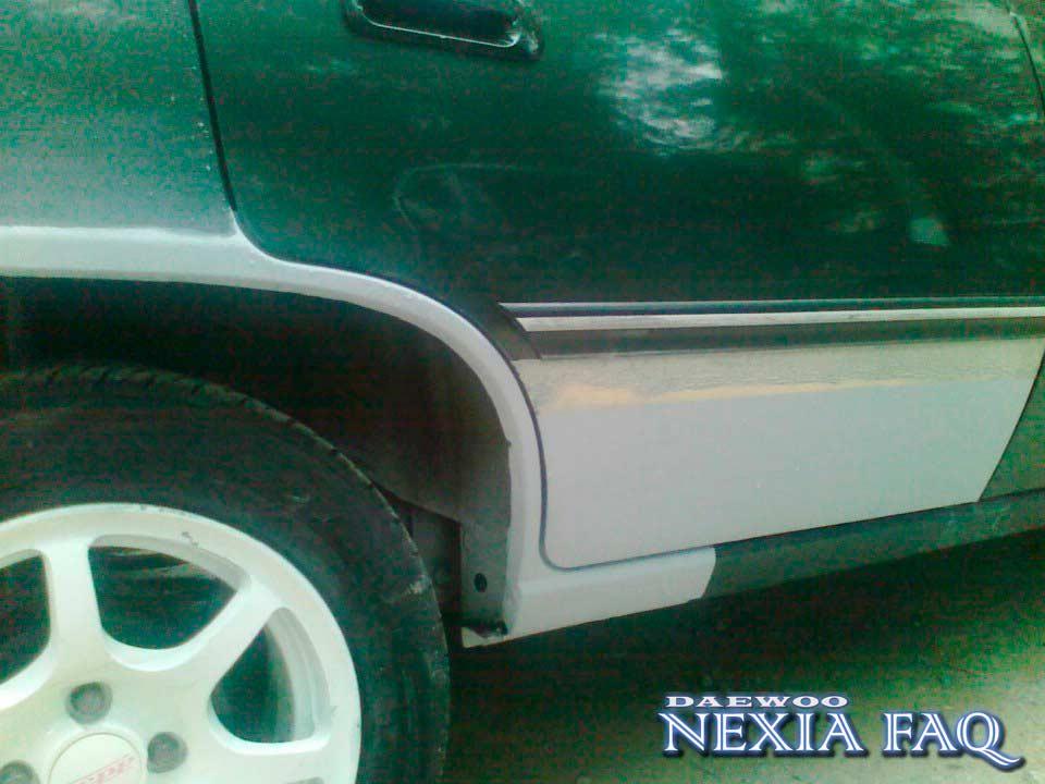 Ремонт низа дверей и арок на нексии (nexia)