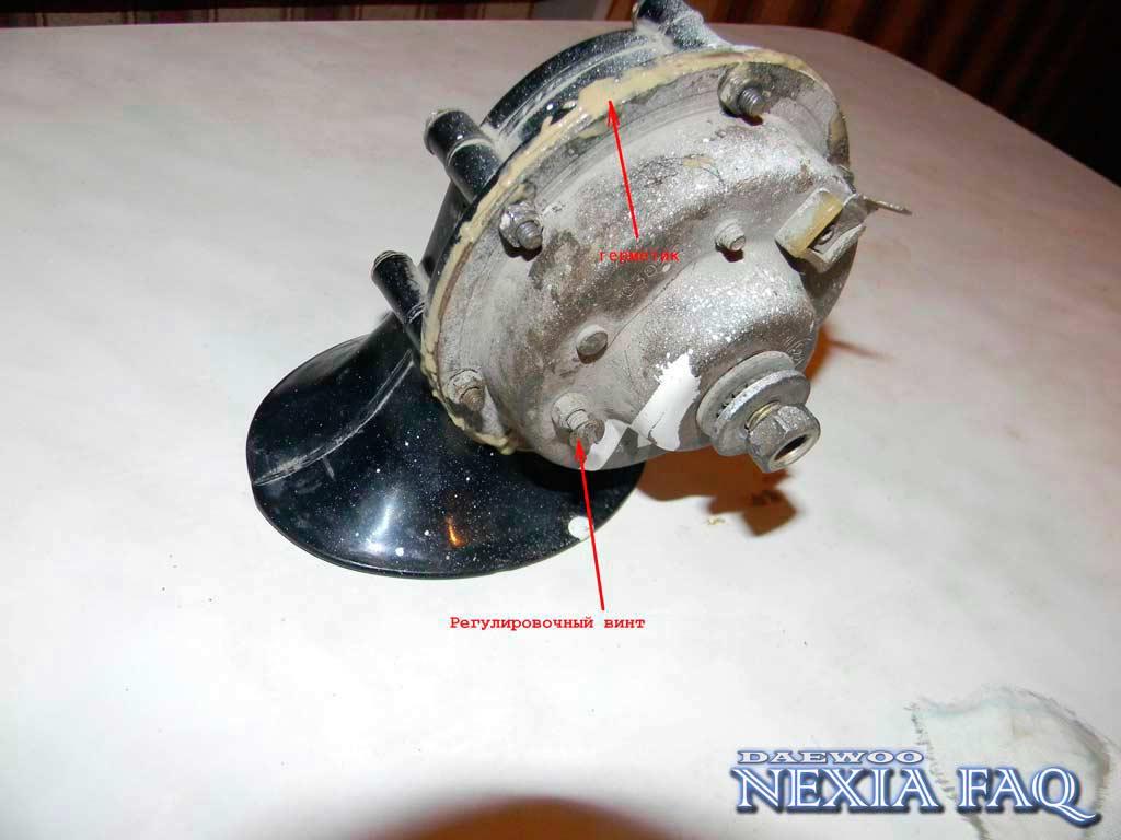 Ремонт улитки звукового сигнала на нексии (nexia).