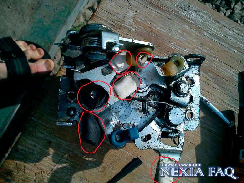 Удаление лязга замков дверей на нексии (nexia)