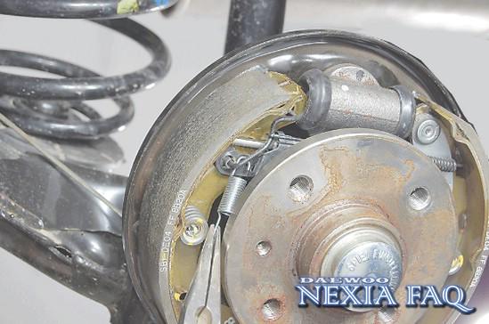 колодок на нексии(nexia)