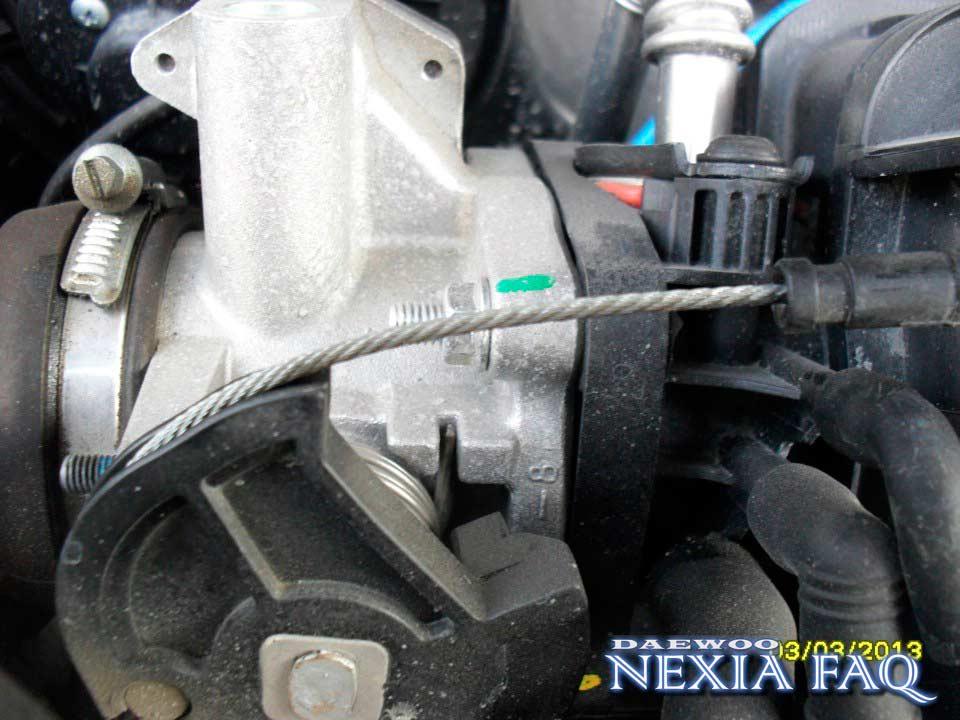 Как подтянуть тросик газа на нексии (nexia)