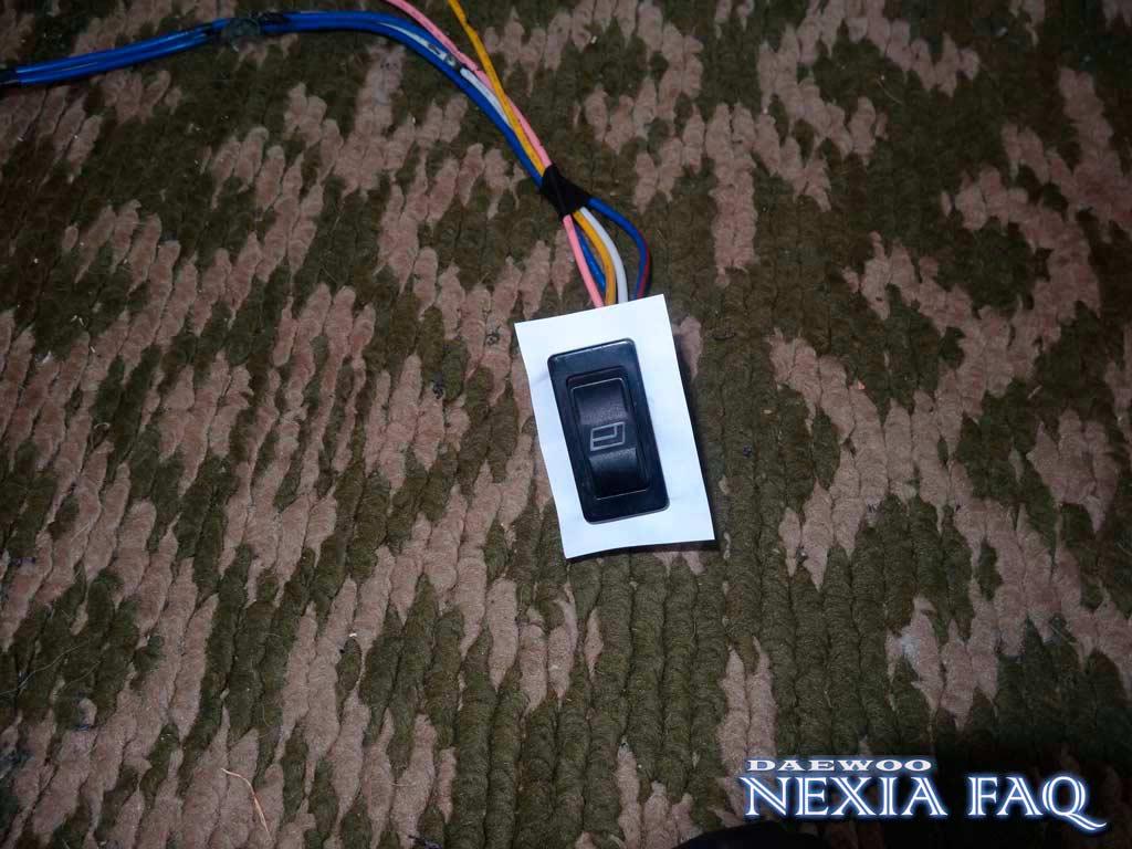 Изменение положения кнопок ЭСП на нексии N-150 (nexia)