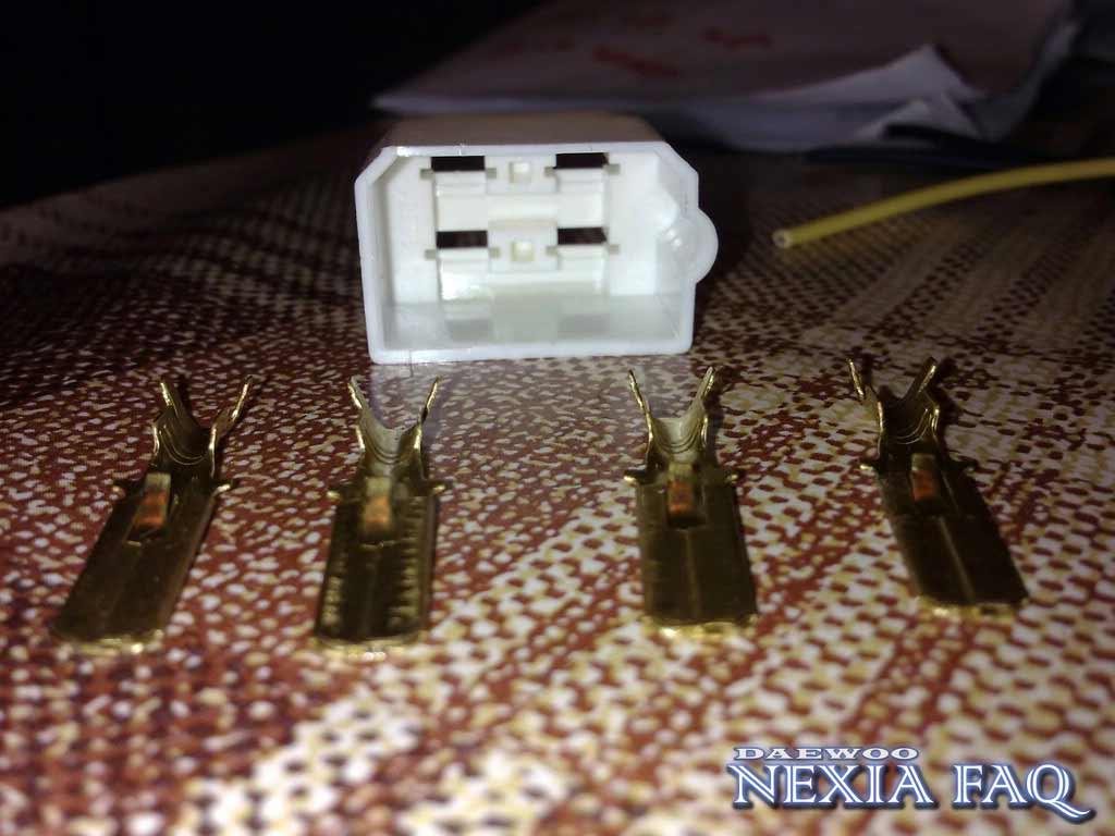 Изготовление разъема для кнопки ПТФ на нексии (nexia)