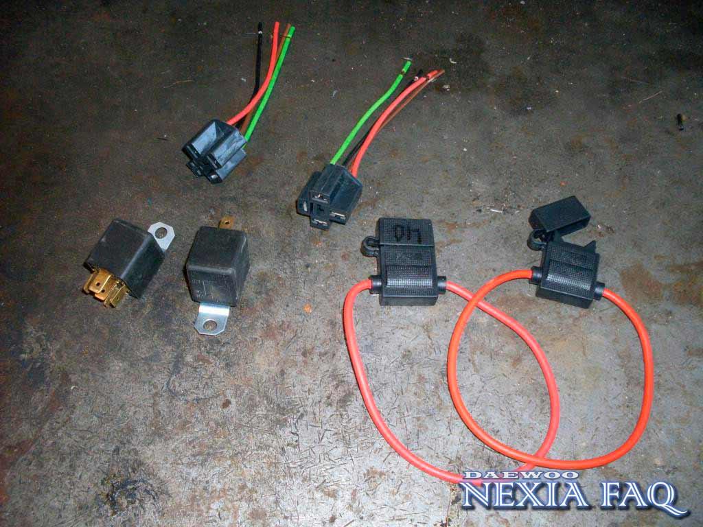 Замена проводки фар (плохо светят фары) на нексии (nexia)