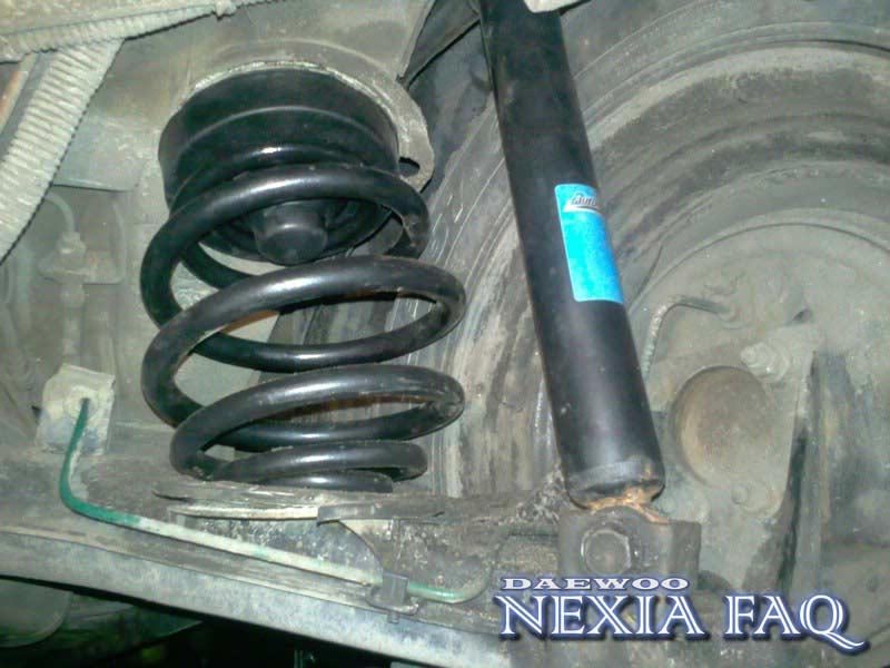 Замена задних пружин и аммортизаторов на нексии (nexia)