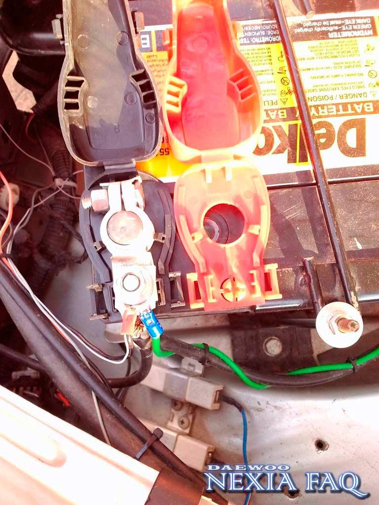 Закрытые клеммы аккумулятора нексии (nexia)